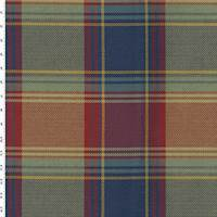 *1 1/4 YD PC--Blue/Yellow/Multi Plaid Twill Weave Home Decorating Fabric
