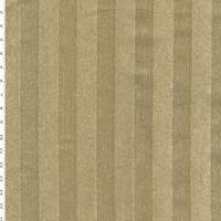 *1 1/4 YD PC--Green/Tan Striped Pile Weave Home Decorating Fabric