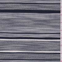 *1 7/8 YD PC--Navy/White Deco Stripe Jacketing