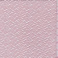 *2 YD PC--Powder Pink Stretch Bubble Mesh Lace