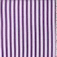 *3 1/8 YD PC--Plum Stripe Cotton Shirting