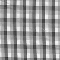*5 3/4 YD PC--Grey Plaid Cotton Shirting