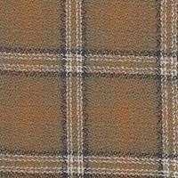 *5 3/8 YD PC--Rust Plaid Lightweight Wool