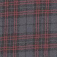 *2 3/4 YD PC--Grey Plaid Wool Gauze
