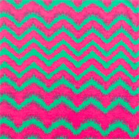 *2 3/4 YD PC--Teal Green/Hot Pink Chevron Print Jersey