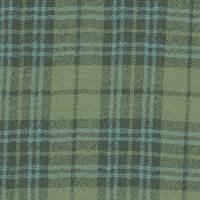 *2 5/8 YD PC--Green/Navy Plaid Wool Gauze