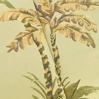 *5 YD PC--Green/Beige/Multi Palm Leaf Jacquard Decorating Fabric