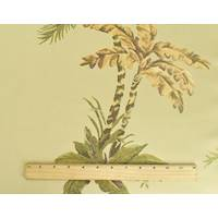 *5 YD PC--Green/Beige/Multi Palm Leaf Jacquard Decorating Fabric