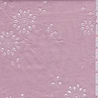 *2 5/8 YD PC--Metallic Pink Floral Medallion Eyelet