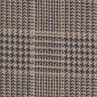 *3 1/4 YD PC--Camel/Black Plaid Wool Blend Suiting