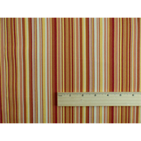 *4 YD PC--Red/Multi Stripe Indoor/Outdoor Home Decorating Fabric