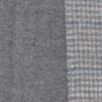 *3 YD PC--Grey/Gray Plaid Double Sided Wool Jacketing