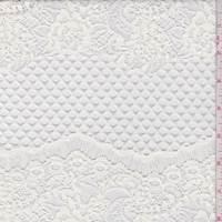 *2 1/8 YD PC--White Deco Swag Stripe Lace