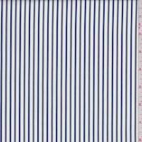 *3 1/8 YD PC--White/Navy/Yellow Stripe Cotton Shirting