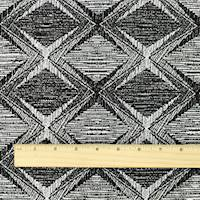 *1 7/8 YD PC--Black/White Diamond Texture Jacquard Knit