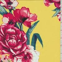 *3 YD PC--Sunshine Floral Rayon Challis