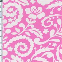 *2 YD PC--Pink Floral Garden Print Decor Cotton Twill