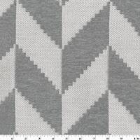 *4 YD PC--Gray/White Chevron Chenille Damask Home Decorating Fabric