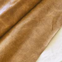 Antique Beige/Brown Textured Glossy Leather Hide