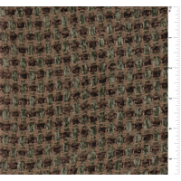 *1 YD PC--Forest Green/Brown Basket Weave Chenille Home Decorating Fabric