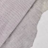 Lavender Gray Reptile Skin Leather Hide