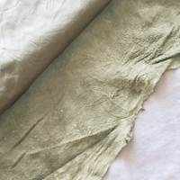 Clay Gray Textured Leather Hide