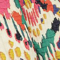 Pink/Blue/Multi Abstract Texture Matelasse Decorating Fabric