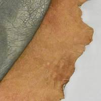 Metallic Bronze Textured Leather Hide