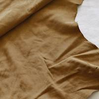 Cocoa Brown Suede Leather Hide