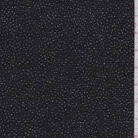 *3 3/4 YD PC--Black/Silver Glitter Slinky Knit