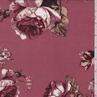 Brick Pink/Mauve Floral Brushed Jersey Knit