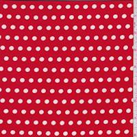 Ruby/White Dot Double Brushed Jersey Knit