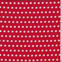 Ruby/White Dot Brushed Jersey Knit