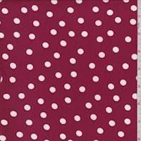 Berry/White Dot Brushed Jersey Knit