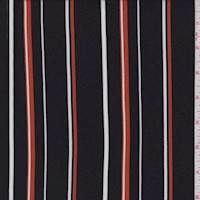 Black/Harvest/White Stripe Double Brushed Jersey Knit