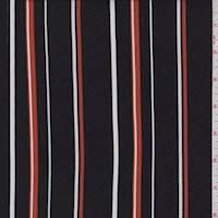 Black/Harvest/White Stripe Brushed Jersey Knit