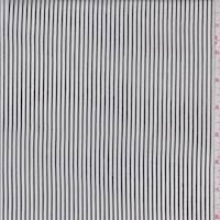 White/Black Pinstripe Rayon Challis