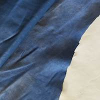 Deep Blue Soft Textured Leather Hide