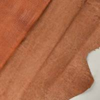 Rust Brown Reptile Skin Textured Leather Hide