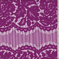 *3 YD PC--Bright Purple Floral Scallop Lace