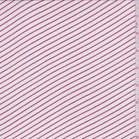 *2 3/4 YD PC--White/Red Stripe Lawn