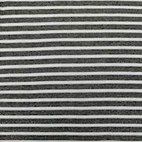 *1 YD PC--Black/Gold Metallic Sparkle Stripe Knit