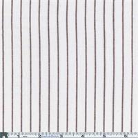 *2 3/4 YD PC--White /Brown Oxford Shirting