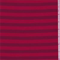 *2 YD PC--Red/Burgundy Stripe Jersey Knit