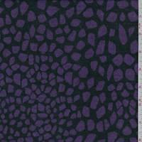 *3 1/2 YD PC--Black/Grape Mosaic Sweater Knit
