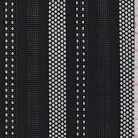 *2 1/4 YD PC--Black Mesh Deco Stripe Activewear