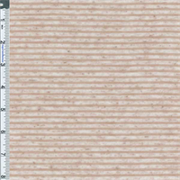 *3 3/4 YD PC--Beige Flecked Stripe Jersey Knit