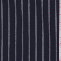 *1 7/8 YD PC--Navy/Grey Stripe Jersey Knit