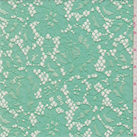 *1 1/4 YD PC--Opaline Green Floral Lace