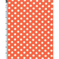 *2 YD PC--Orange/White Polka Dot Hi-Multi Chiffon